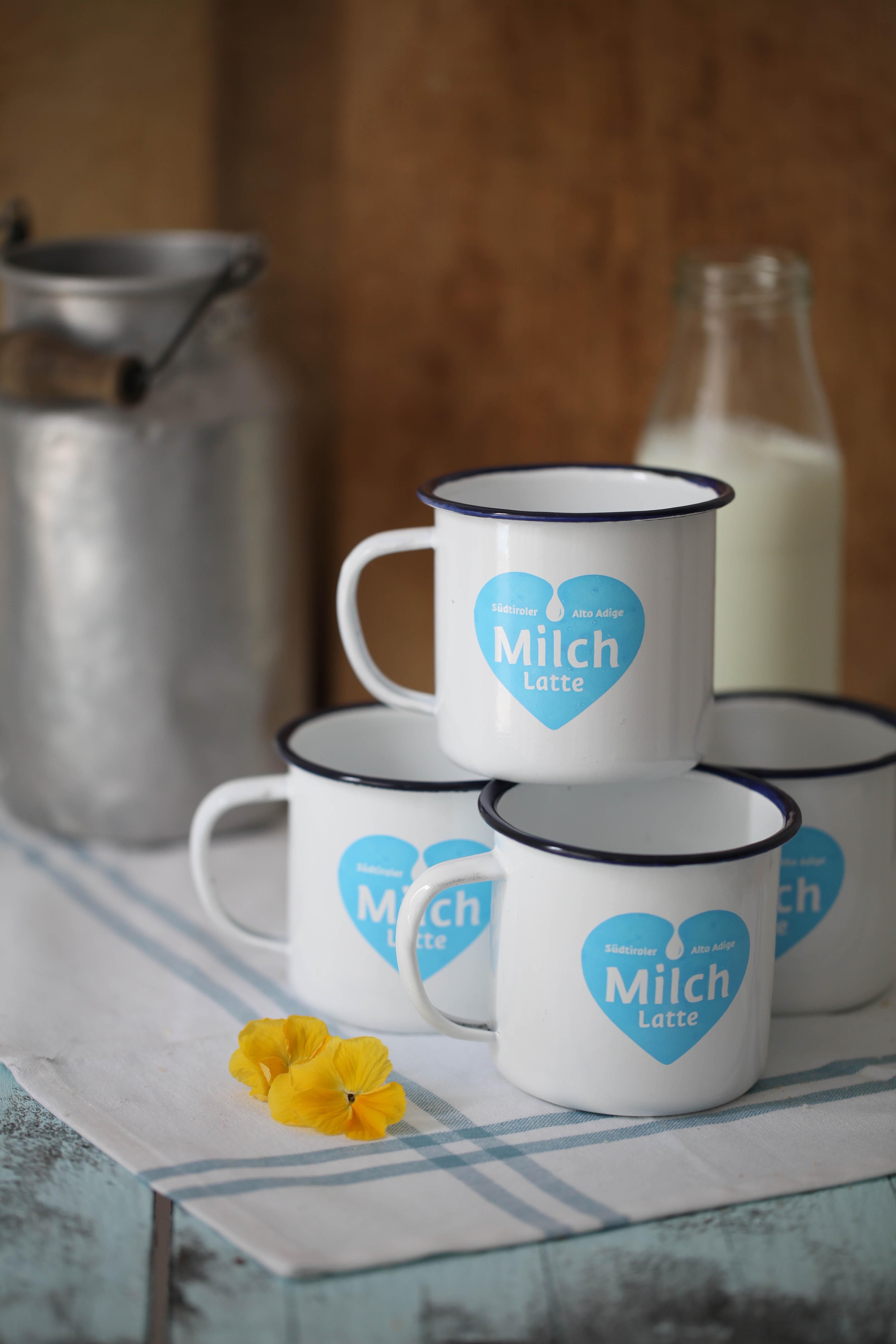 Emaille Tasse Südtiroler Milch Genussfestival Zuckerzimtundliebe