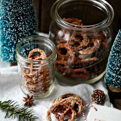 Zuckerzimt Brezeln einfaches KÜchengeschenk Weihnachtsgeschenk edible gifts post aus meiner küche salzbrezeln backen