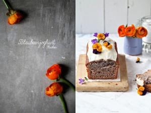 Rezept Blaubeerjoghurt Kuchen Kastenkuchen Backen Foodblog Zuckerzimtundliebe Orangenglasur einfaches Kuchenrezept mit Joghurt