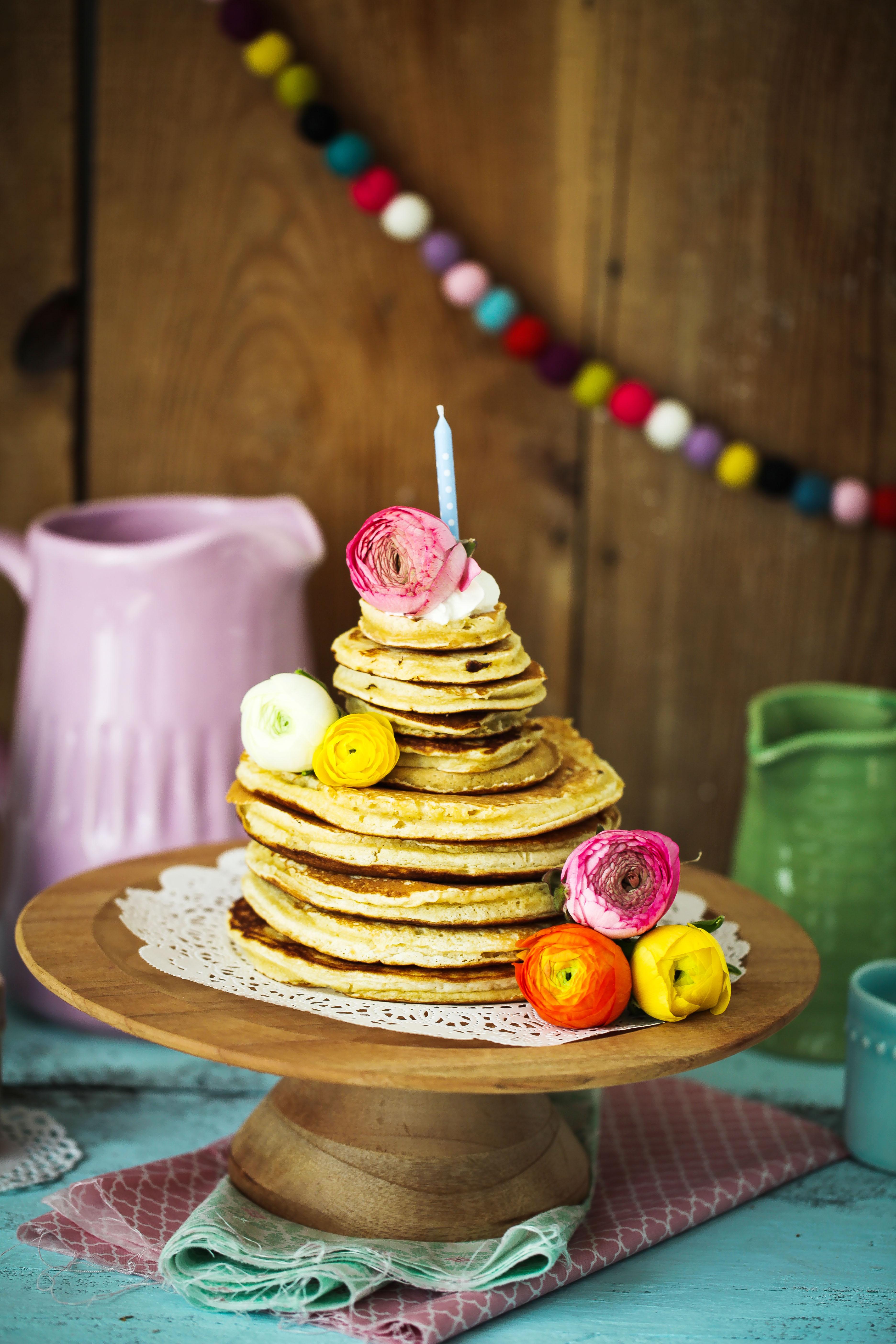 Zuckerzimtundliebe Rezept Zitronen Buttermilch Pancakes Geburtstagstorte Lecker Weltrekord-8b
