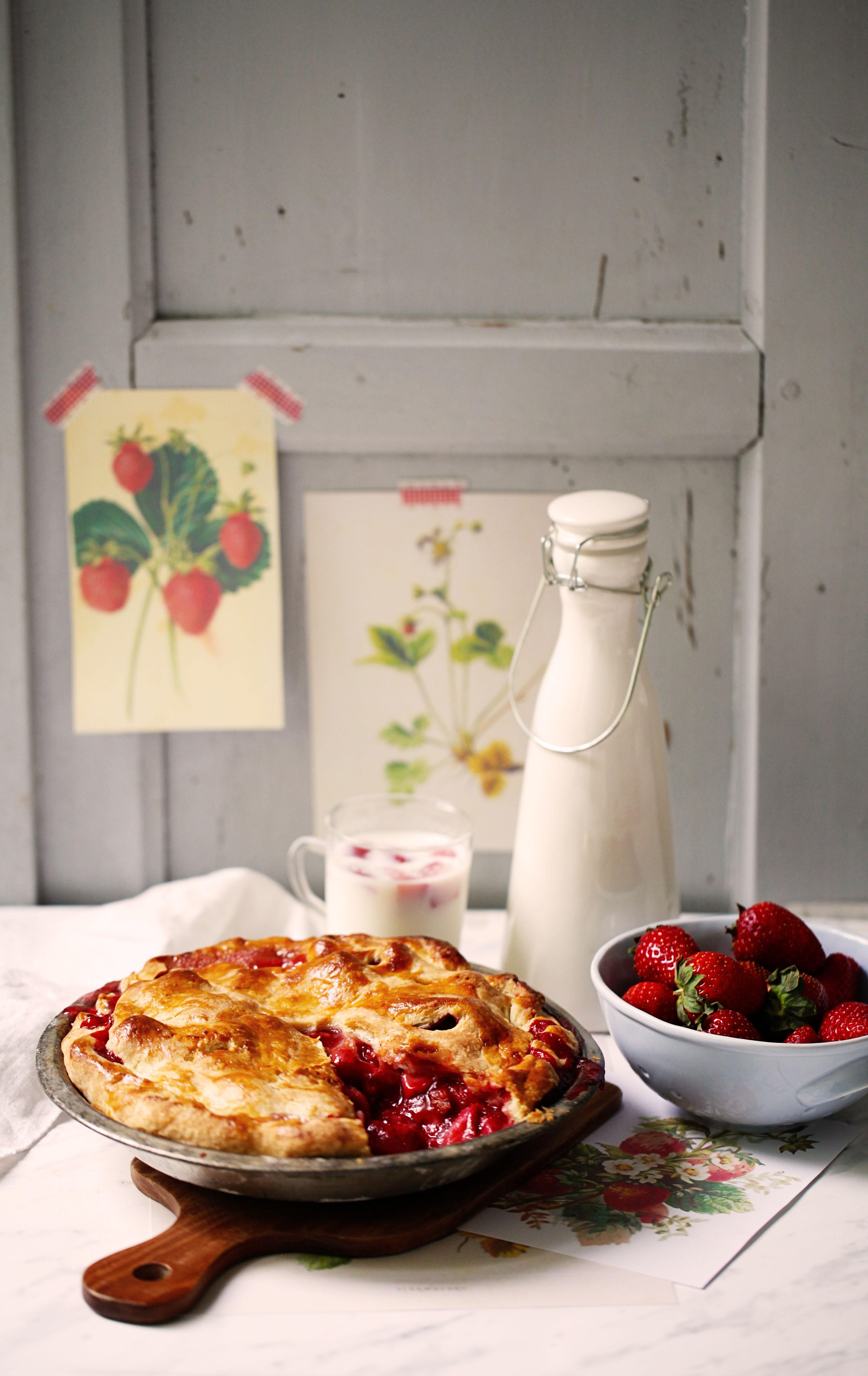 Rezept für Strawberrypie Erdbeerpie einfach Pierezept Erdbeerrezept Tarte Sommerkuchen Backrezept Zuckerzimtundliebe Foodblog 4