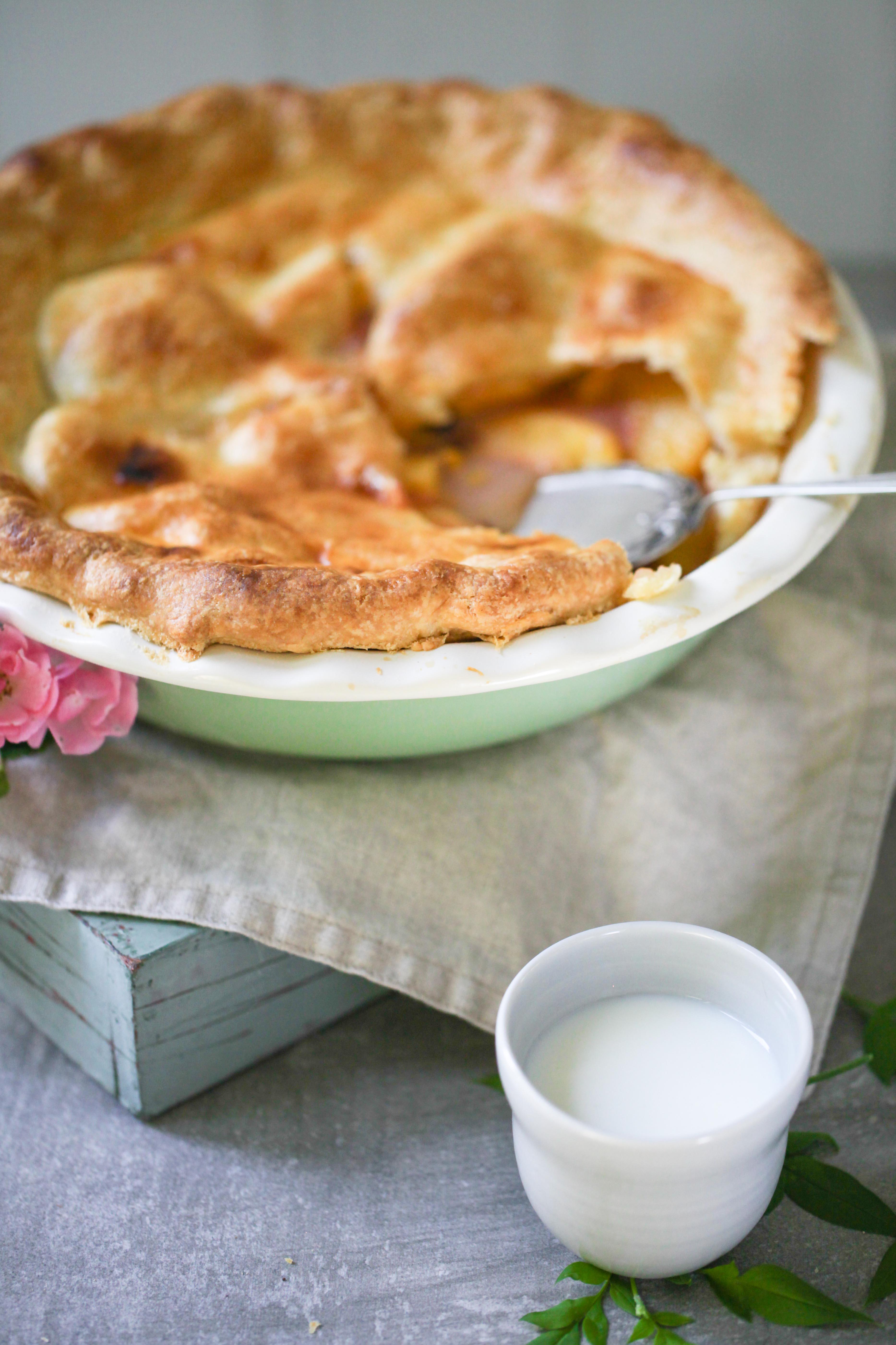 Rezept Peach Pie Pfirsich Tart Tarte Sommerkuchen Pfirsichkuchen Pfirsichtarte Backblog Foodblog Zuckerzimtundliebe-6