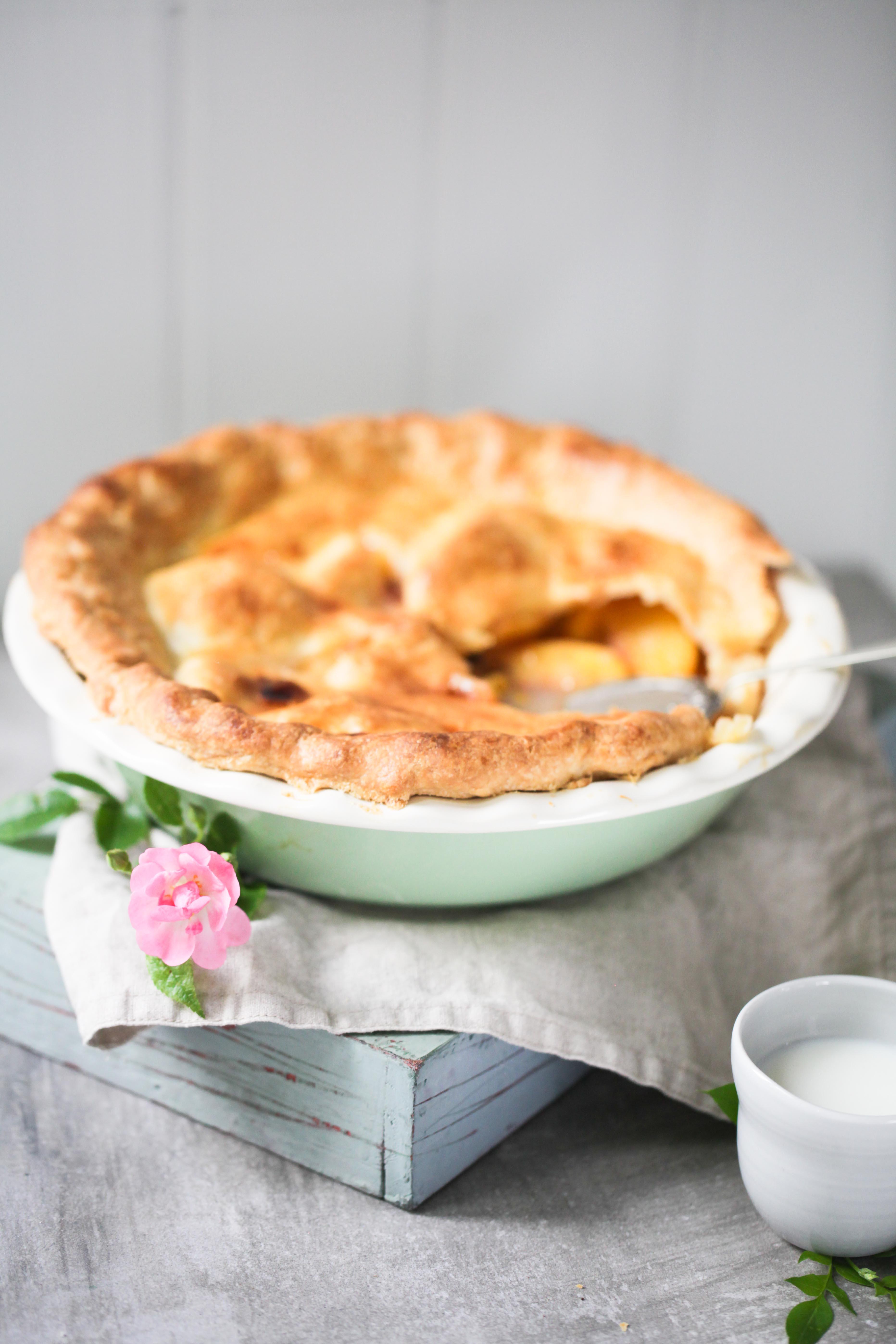 Peach Pie Rezept Sommerkuchen Foodblog Zuckerzimtundliebe