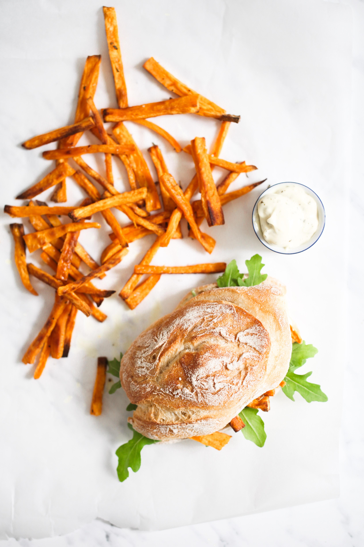 Rezept Süsskartoffel Pommes sweet potato fries chip butty pommes sandwich stulle der woche zuckerzimtundliebe foodblog-11