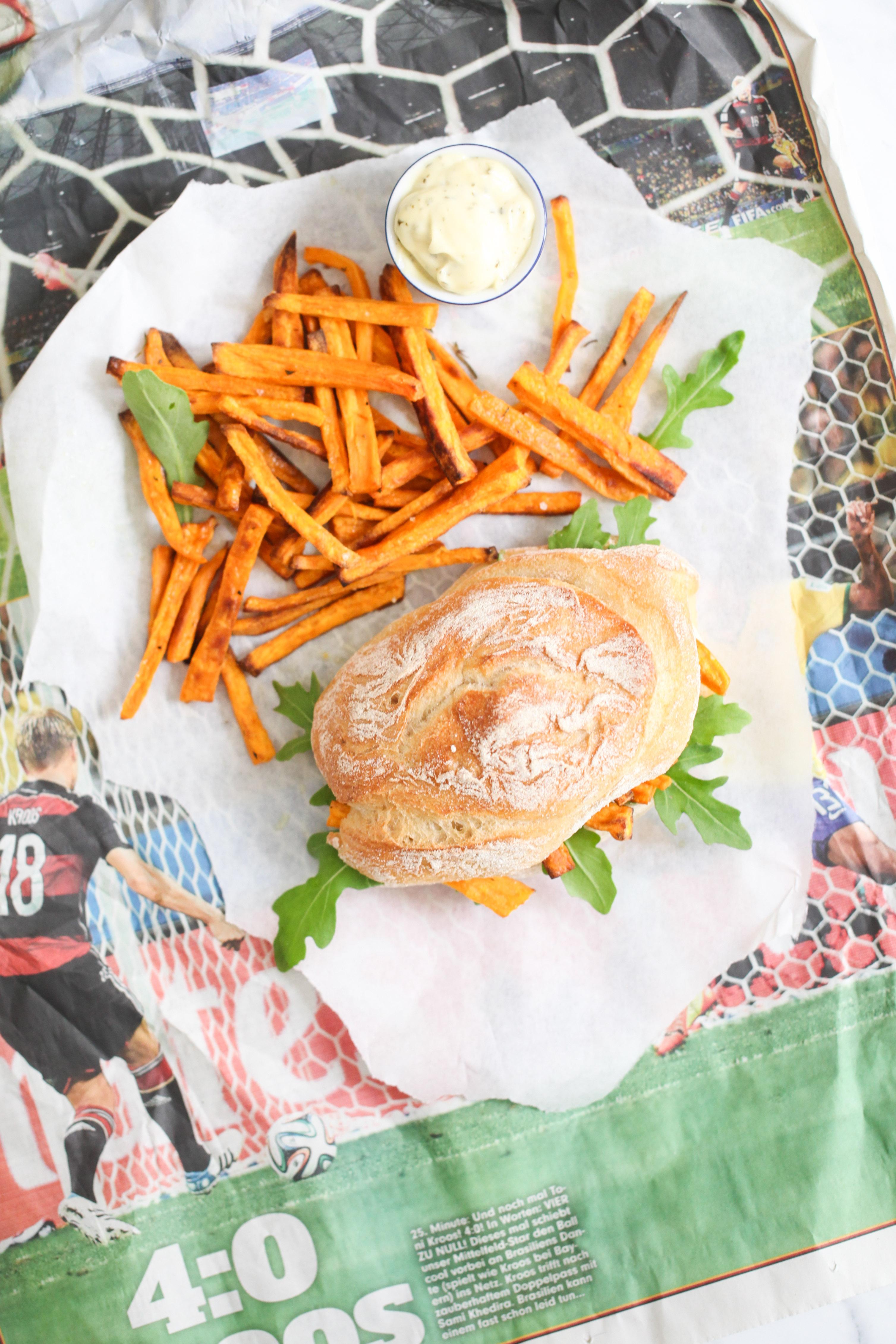 Rezept Süsskartoffel Pommes sweet potato fries chip butty pommes sandwich stulle der woche zuckerzimtundliebe foodblog-2