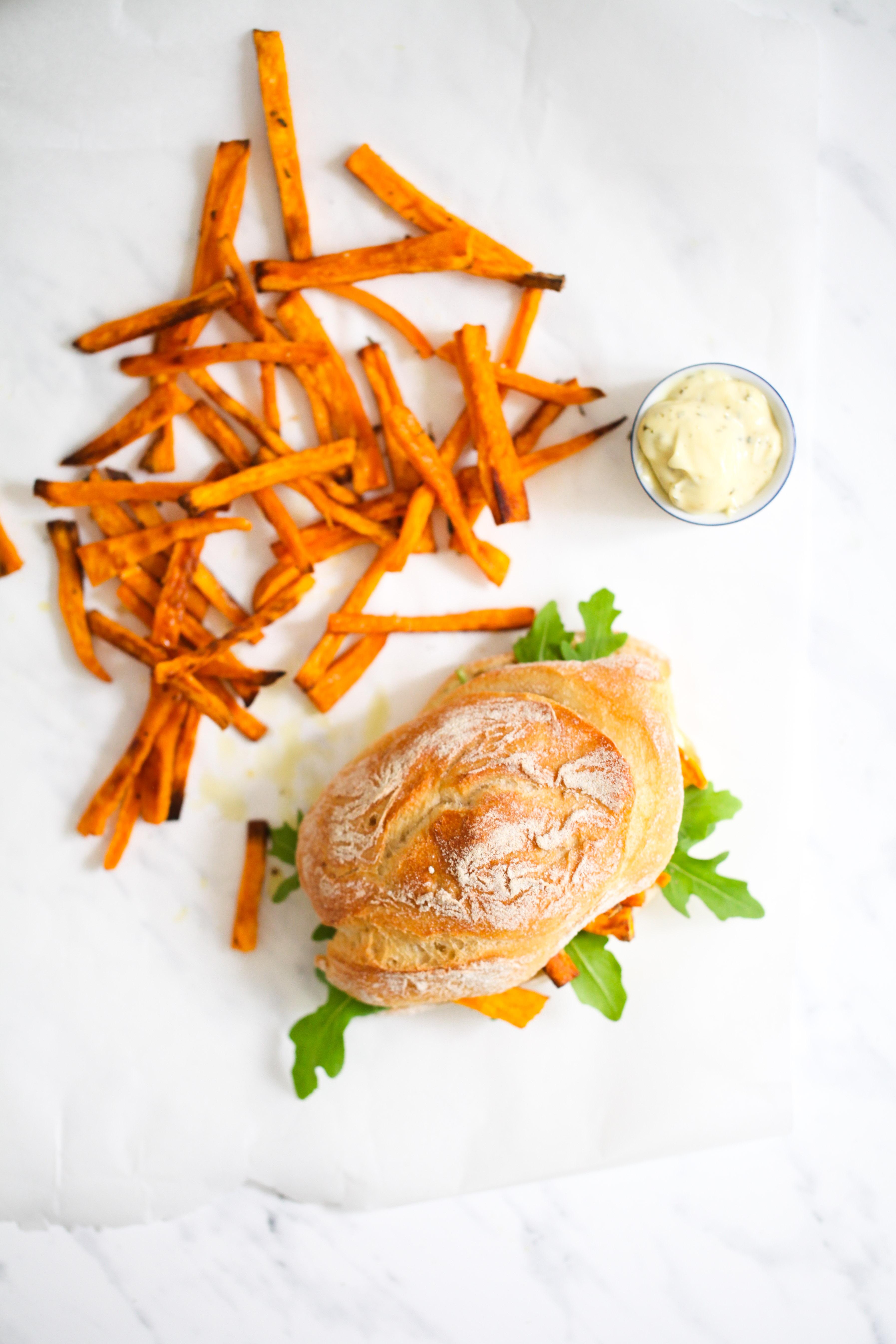 Rezept Süsskartoffel Pommes sweet potato fries chip butty pommes sandwich stulle der woche zuckerzimtundliebe foodblog-6