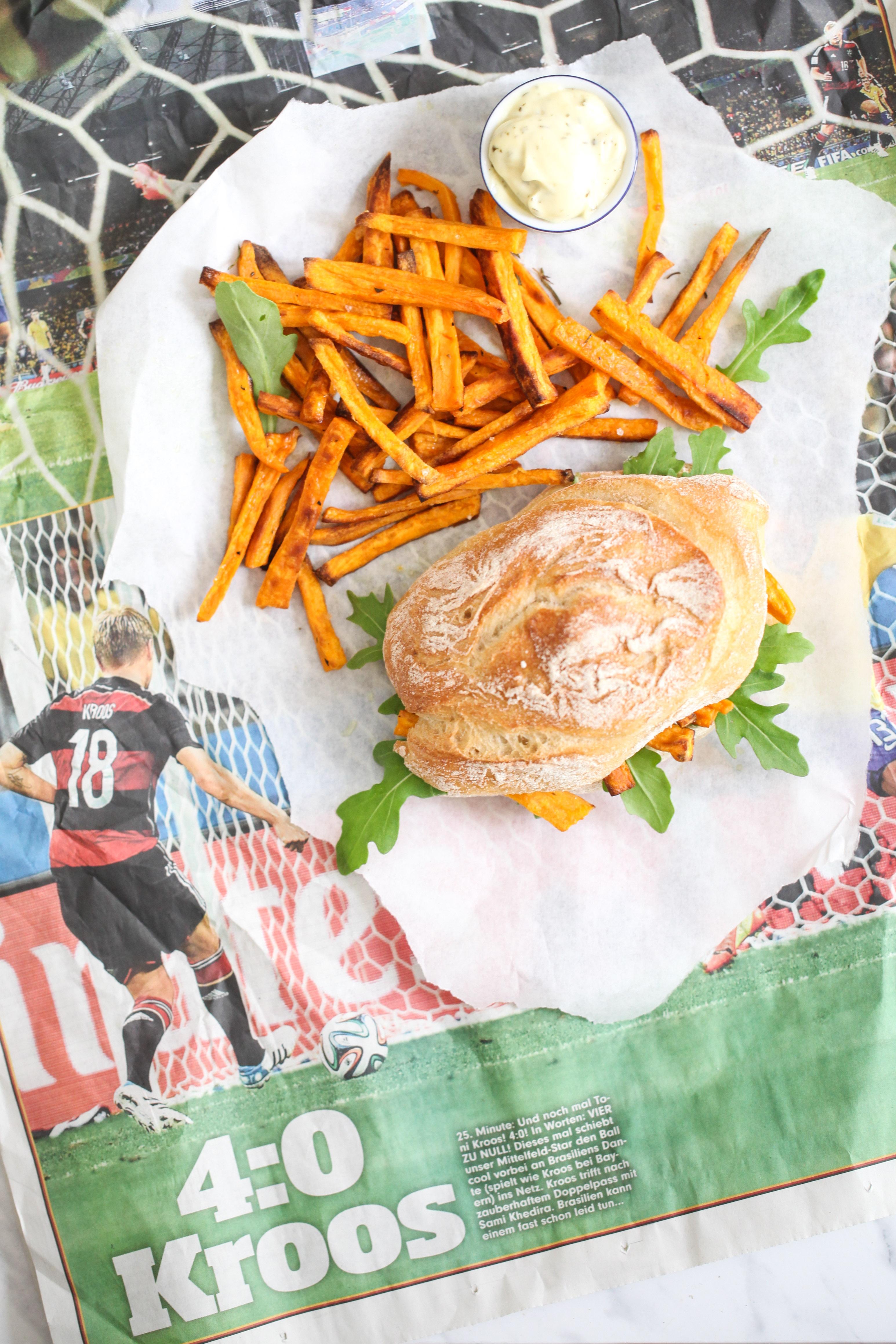 Rezept Süsskartoffel Pommes sweet potato fries chip butty pommes sandwich stulle der woche zuckerzimtundliebe foodblog