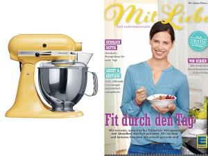 EDEKA Mit Liebe Gewinnspiel Artisan KitchenAid pastellgelb Zuckerzimtundliebe Lieblingsseite