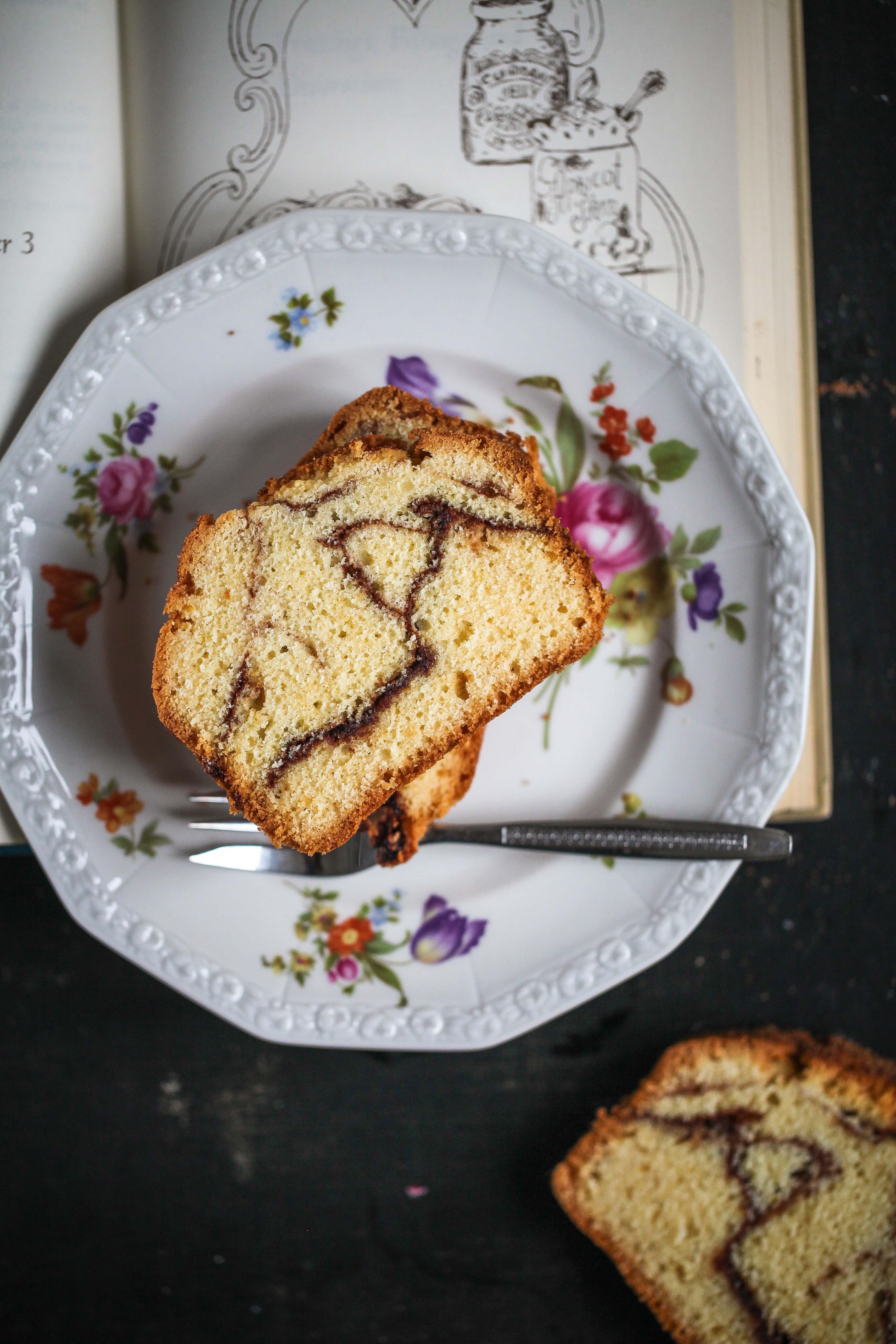 Rezept Zimtschneckenkuchen Zimtschnecke Rührkuchen Kastenkuchen Zuckerzimtundliebe Foodblog Backblog einfacher Kuchen zimtkuchen Cinnamon swirl loaf_-9