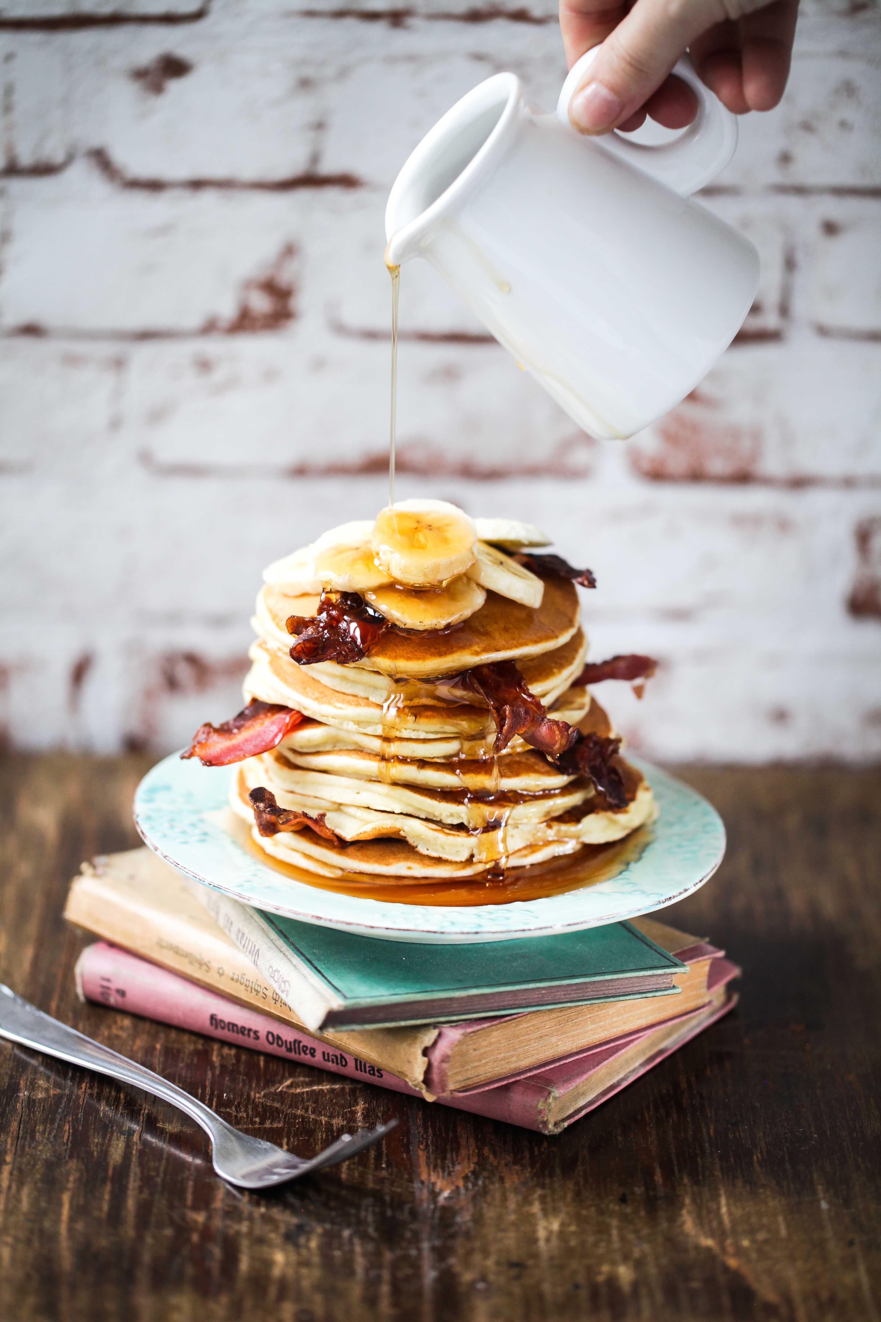 Erdnussbutter Bananen Pancake