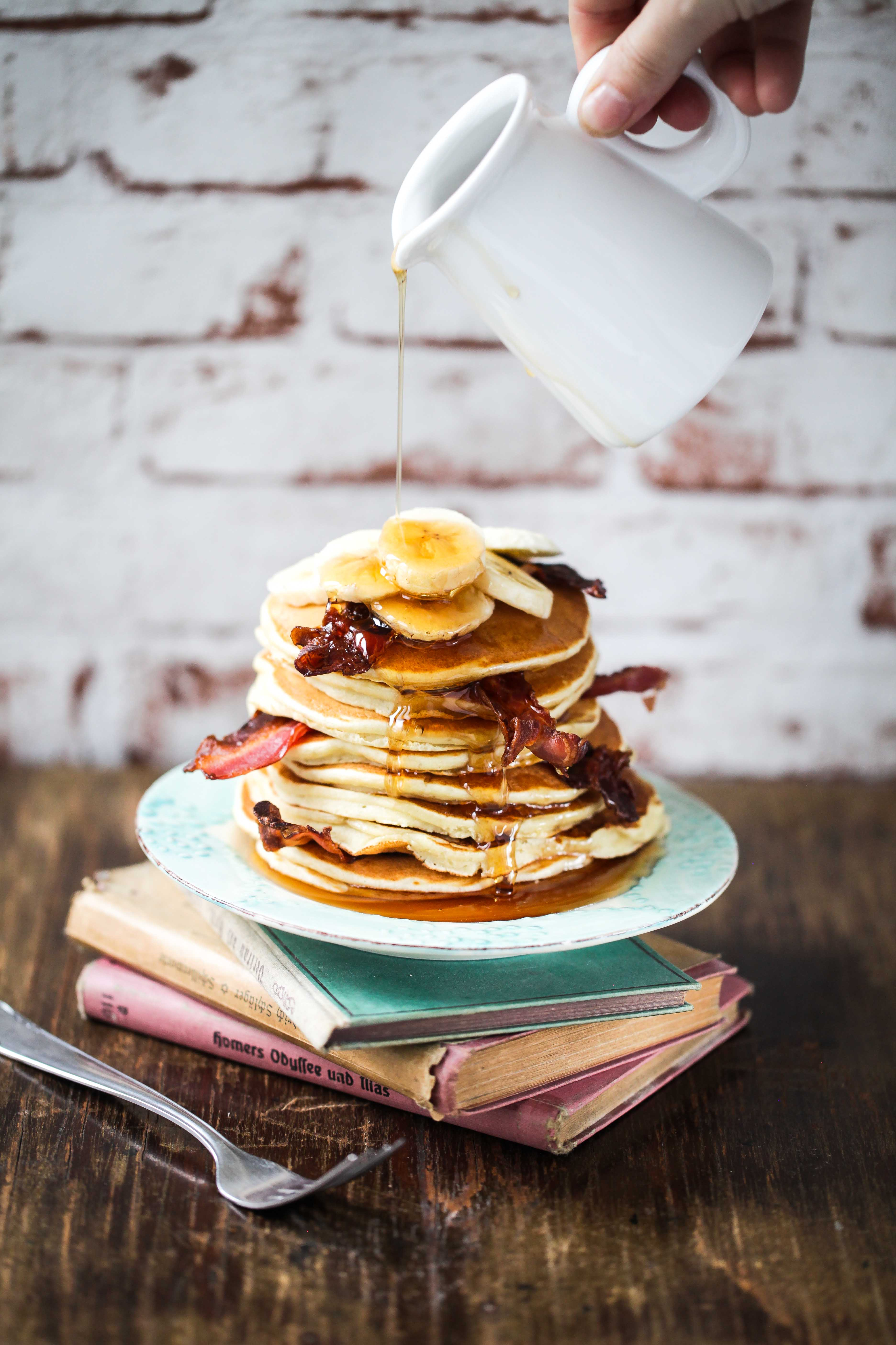 Elvis Erdnussbutter Bananen Pancake Rezept bester Pancake Bananenpfannkuchen Zuckerzimtundliebe einfaches Rezept Frühstücksglück Foodblog