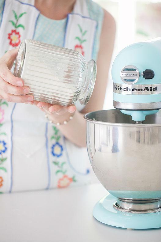 Kitchen Aid Küchenmaschine Mixer Kuchenteig mixen Zuckerzimtundliebe