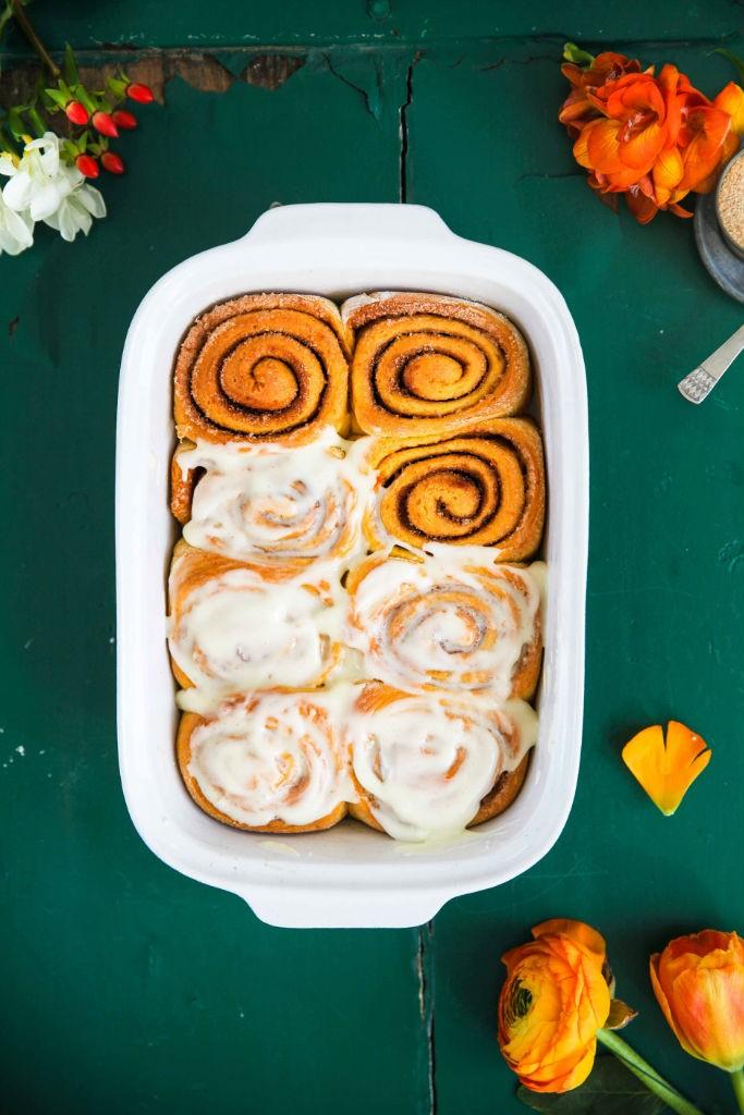 Möhrenkuchen-Zimtschnecken Rezept | Zucker, Zimt und Liebe
