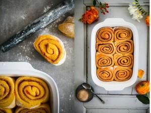 Rezept Möhrenkuchen Zimtschnecken carrot cake cinnamon rolls Hefeteig Zuckerzimtundliebe
