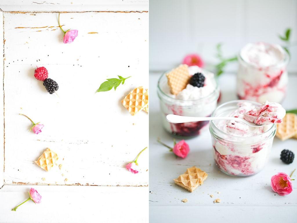 Rezept fuer Beerendessert Berry fool aus nur drei Zutaten einfaches leckeres Sommerdessert