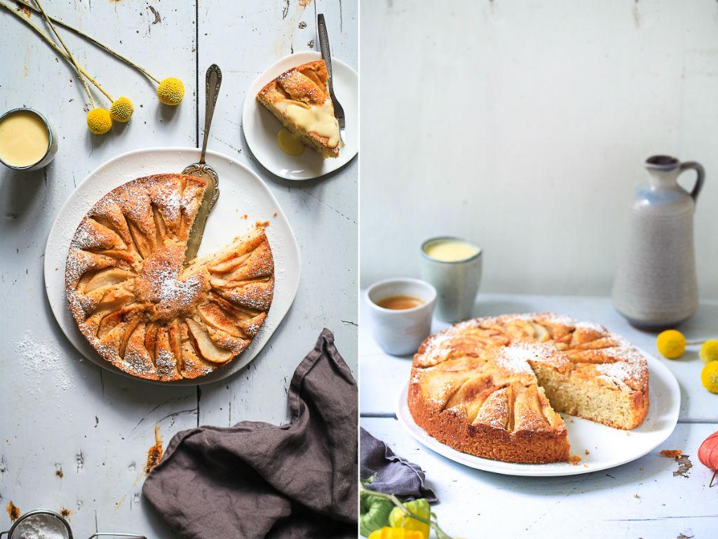rezept birnenkuchen mit haselnuss zucker zimt und liebe. Black Bedroom Furniture Sets. Home Design Ideas