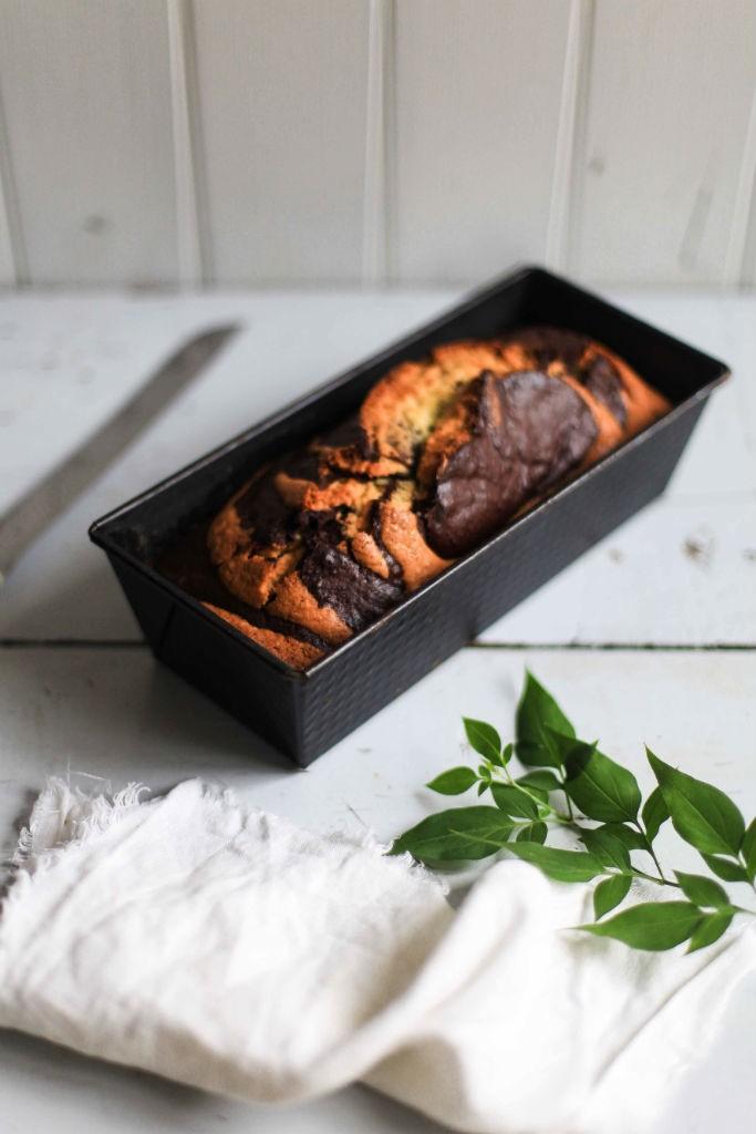 Zuckerzimtundliebe Rezept Marmorkuchen Pflaumenmus einfacher rührteig kuchen der lange saftig bleibt plum jam marble loaf cake