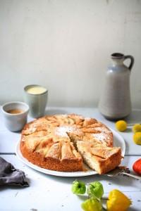 Birnenkuchen Nusskuchen Zimtbirne Kuchen backen Kuchenrezept einfacher Kuchen Zuckerzimtundliebe Herbstkuchen Birnenrezepte