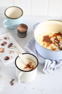 Ofen Milchreis Salzkaramell Sauce Milchreis ohne Anbrennen Zuckerzimtundliebe rice pudding salted caramel sauce