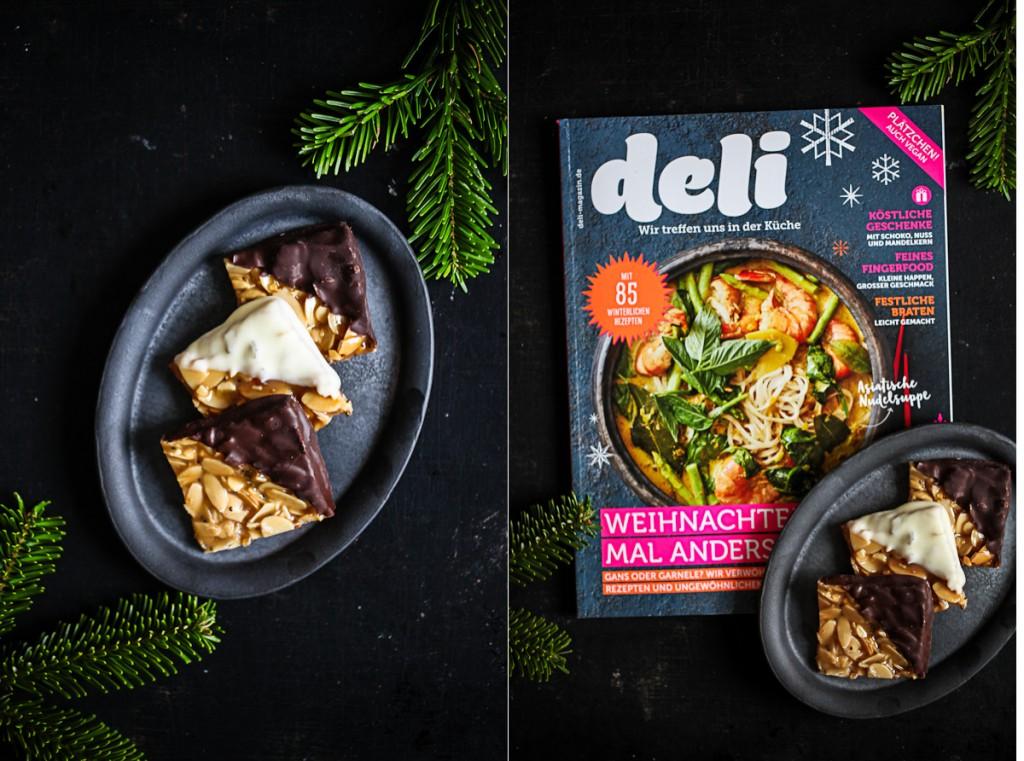Florentiner Rezept Deli Magazin Deli Dreielei zuckerzimtundliebe weihnachtsbäckerei florentine cookies recipe 3punktf