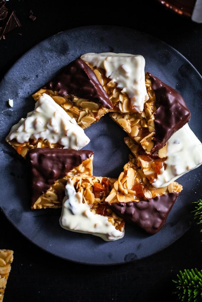 rezept Florentiner weihnachtskekse zuckerzimtundliebe deli magazin deli dreierlei nussplätzchen florentine cookies foodstyling