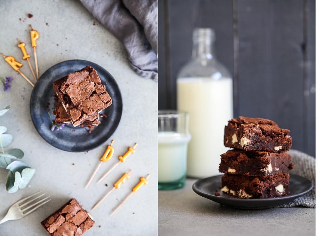 Bestes Brownies Rezept mit Kinderriegel Stücken Zuckerzimtundliebe Backblog deutscher Foodblog Schokoladenkuchen backen backrezept