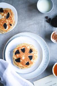 Oreo Pancakes Rezept Recipe Pancakes Pfannkuchen Frühstück Frühstücksglück Zuckerzimtundliebe Rezept breakfast ideas Oreo rezepte