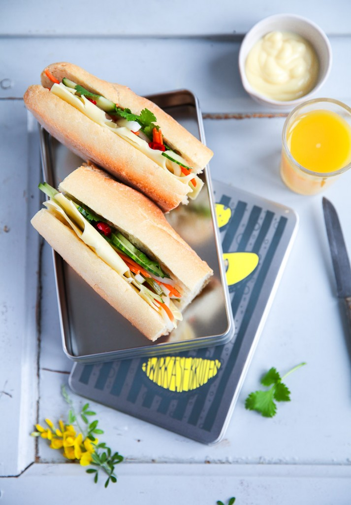 Banh Mi Sandwich Rezept recipe wirkaesebroten Leerdamer zuckerzimtundliebe stulle kaesebrot kaesestulle sandwich vietnamesisches essen