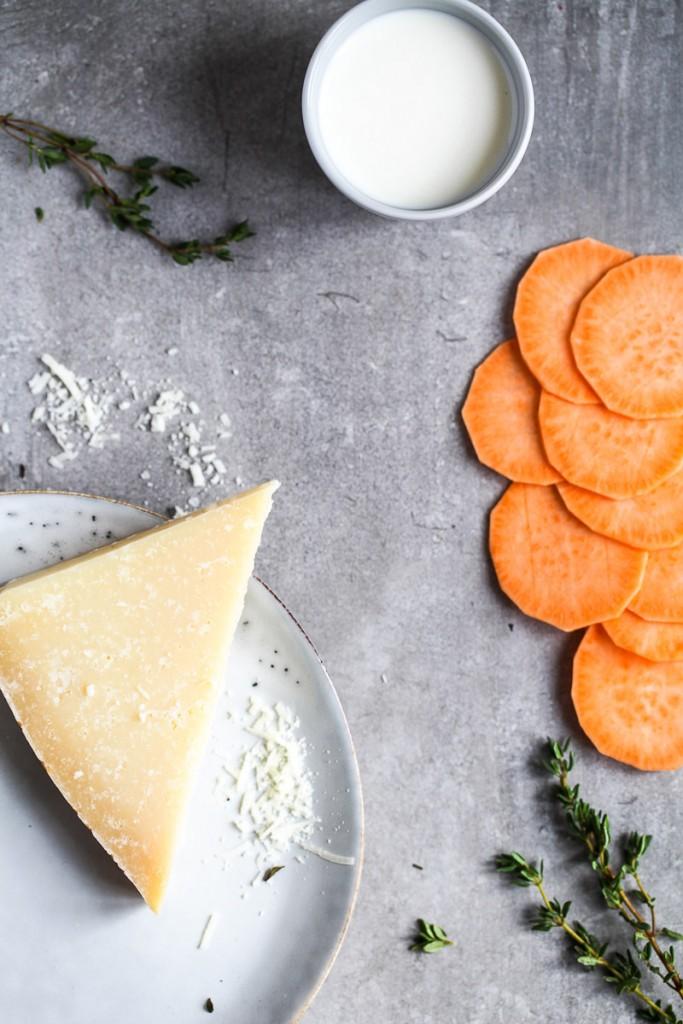 Süsskartoffelgratin Süsskartoffeldauphinois sweet potato gratin mittagessen rezept zuckerzimtundliebe siemens studioline