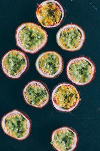 Maracuja Kuchen sponge cake passionfruit still food photography