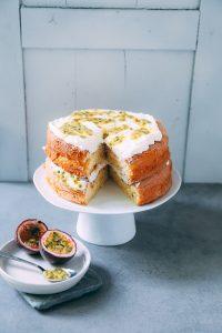 Maracuja Spongecake Rezept einfacher Kuchen festlicher Kuchen Torte Geburtstagskuchen Sommerkuchen Sommerrezept Backrezept leichter Kuchen Suedaustralien Australien kulinarische Reise