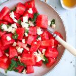 Wassermelone Feta salat watermelon salad sommersalate zum grillen foodstyling