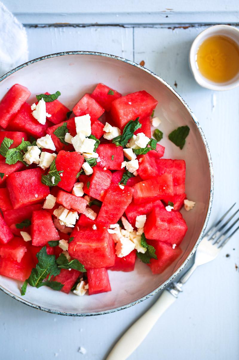 wassermelone minze feta salat rezept zucker zimt und liebe. Black Bedroom Furniture Sets. Home Design Ideas