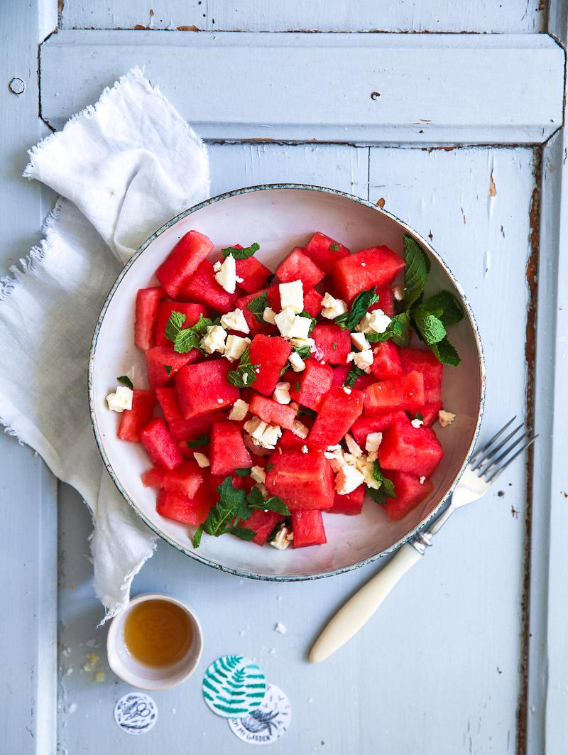 rezept f r wassermelone feta minze salat ein leckeres schnelles mittagessen zucker zimt und. Black Bedroom Furniture Sets. Home Design Ideas
