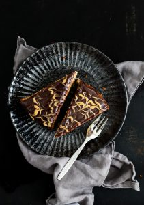 Bananenkuchen Erdnussbutter Schokoladenganache-4