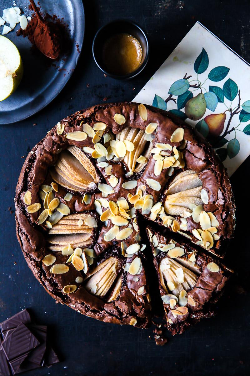 Birnen Brownie Rezept Zucker Zimt Und Liebe