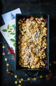 Glühwein Apple Crumble Rezept Adventsrezept Weihnachtsrezept apple crisp oat crumble recipe zuckerzimtundliebe foodblog food styling apfelrezept weihnachtsdessert