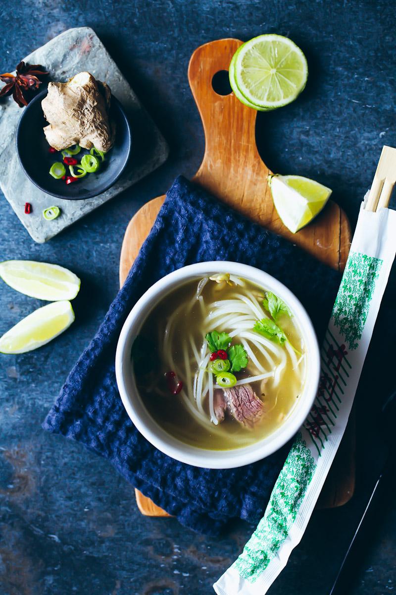 Rezept für Pho Bo   vietnamesische Suppe