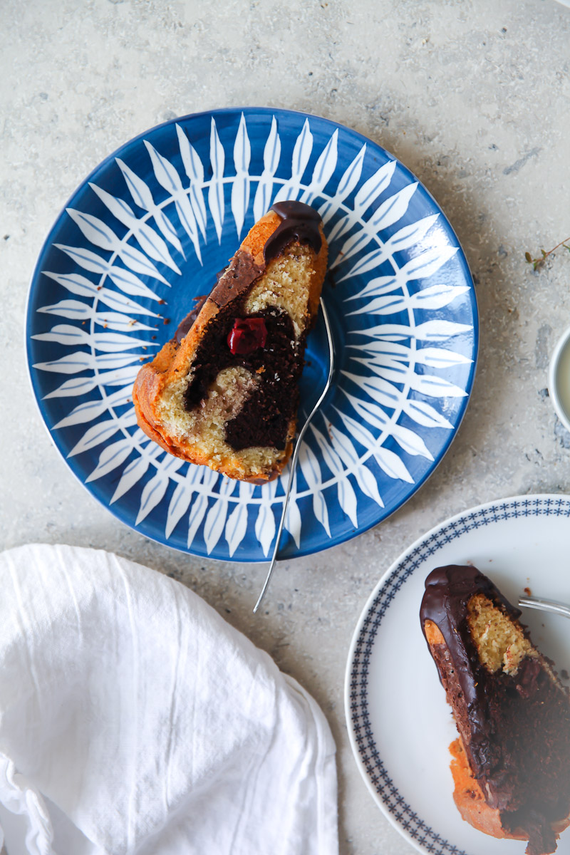 Rezept Für Donauwellen Kuchen Ein Marmorkuchen Gugelhupf Mit