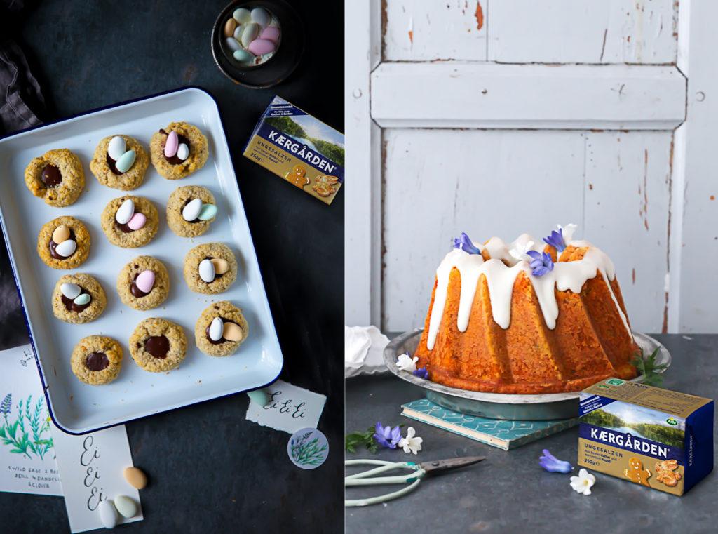 Rezepte fürs Osterfrühstück oder Osterbrunch Möhren Kokos Gugelhupf Osterkekse carrot bundt von zuckerzimtundliebe mit Arla Kaergarden Block