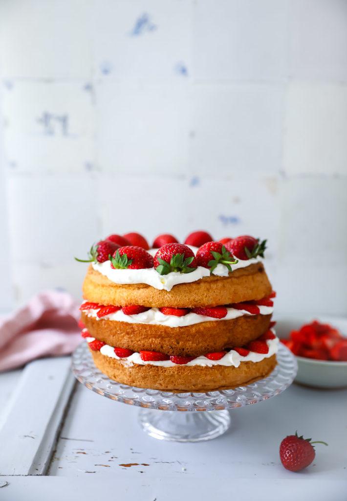 Victoria Sponge Cake Erdbeerkuchen Zucker Zimt Und Liebe