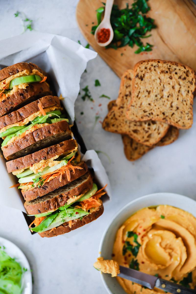 Süsskartoffel Hummus Sandwich Zucker Zimt Und Liebe
