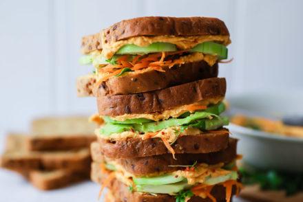 Süsskartoffel Hummus Sandwich Rezept Stulle der Woche wie macht man Hummus selber Süsskartoffel rezept sandwichrezepte edeka saatenbrot zuckerzimtundliebe foodblog sandwichideen foodphotography food styling virginia horstmann