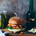 Pulled Chicken Burger Rezept Leerdammer Burger and Toast Zuckerzimtundliebe Foodblog burgerrezept bester chicken burger cheeseburger