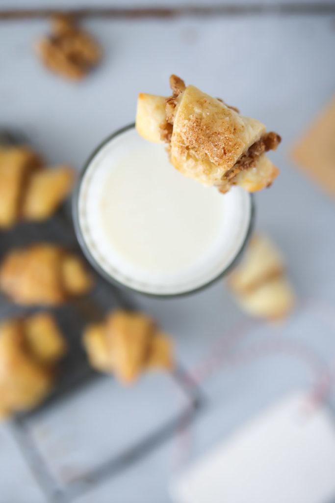Rugelach Walnusskekse walnut cookies plätzchen plätzchenrezept backrezept herbst backen hörnchen kekse zuckerzimtundliebe foodblog backblog