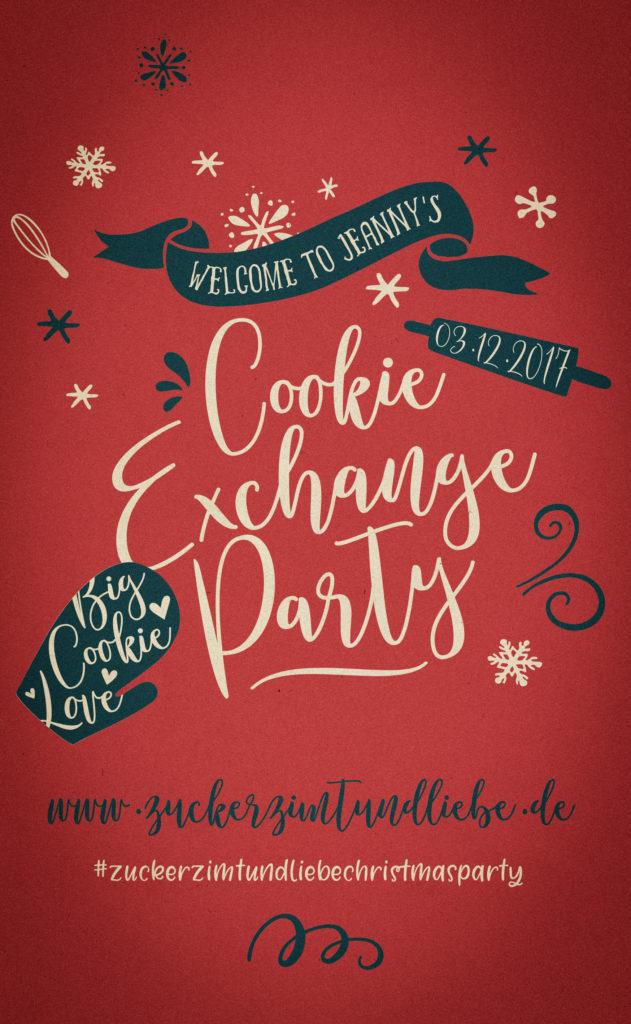 Zuckerzimtundliebe blog weihnachtskeks cookie party weihnachtsplätzchen schwarz weiß gebaeck einfacher muerbeteig