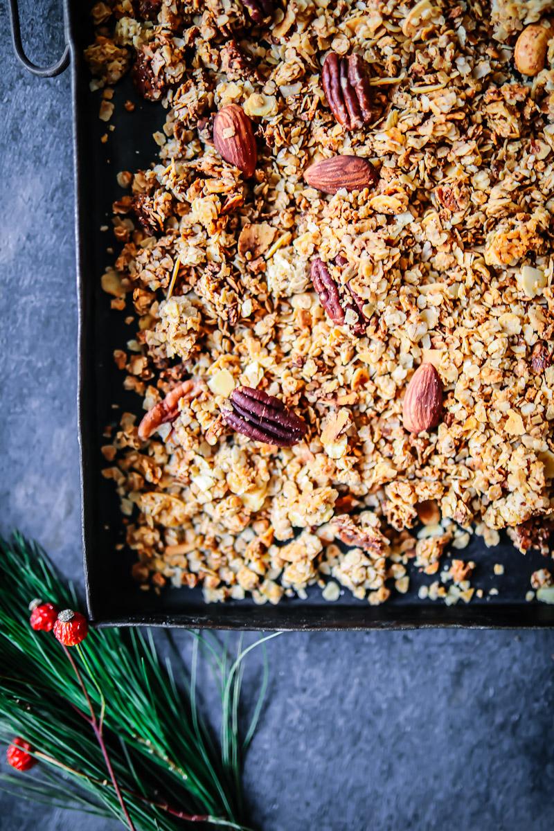 weihnachts nuss granola rezept zucker zimt und liebe. Black Bedroom Furniture Sets. Home Design Ideas