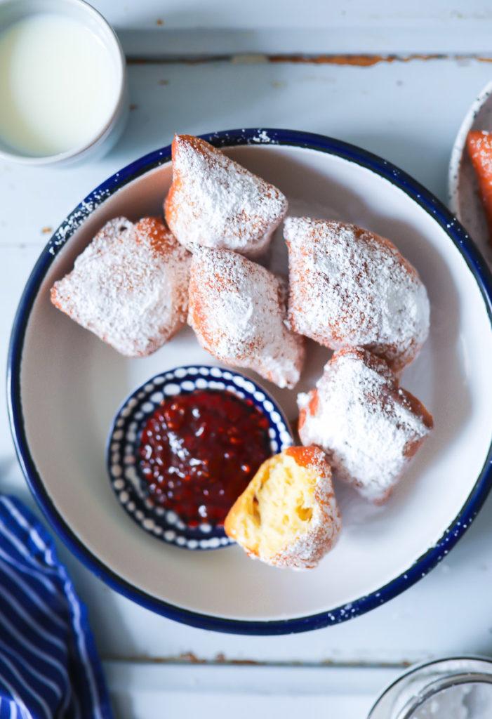 Mini krapfen berliner das beste krapfen rezept kreppel rezept buttermilch hefeteig backen donuts backrezept frittieren fettgebäck beignets zuckerzimtundliebe backblog foodblog bestes berliner rezept