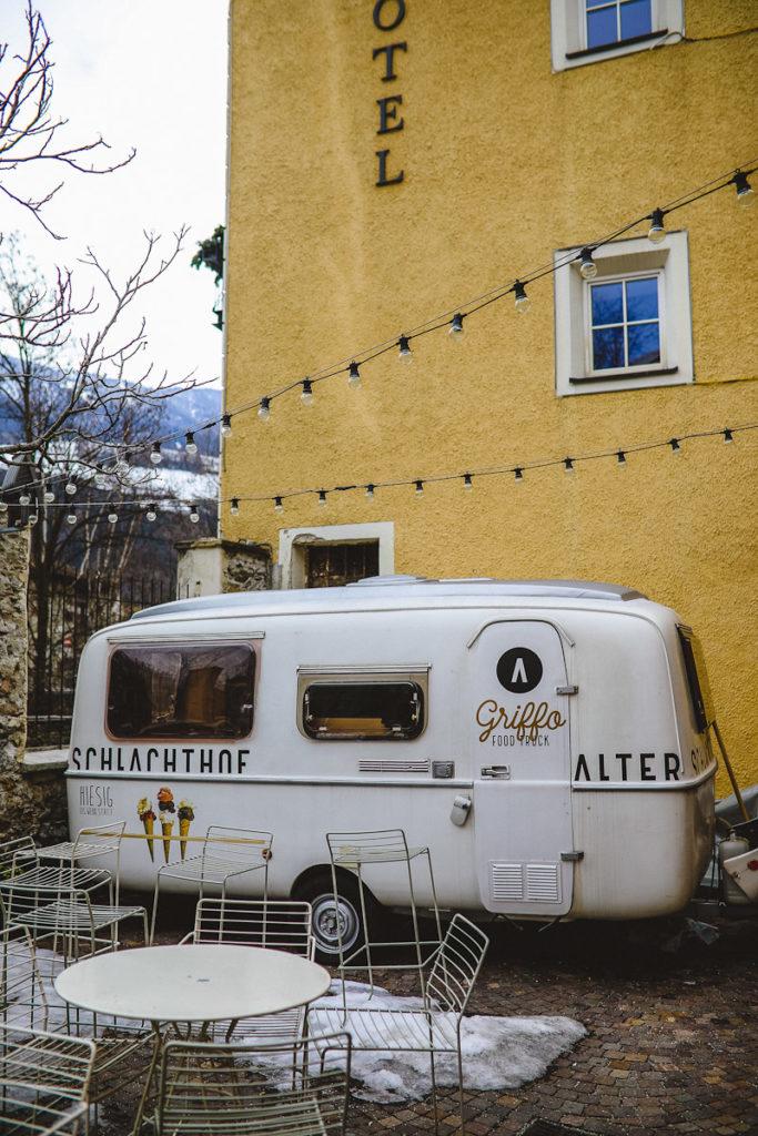 Brixen alter schlachthof ice food truck Eis Restaurant