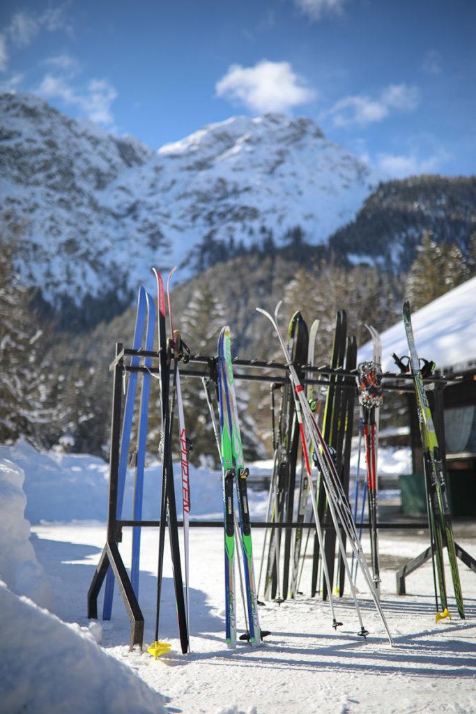 Südtirol im Schnee Urlaub auf dem Bauernhof Niederthalerhof Langlauf